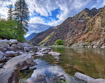Salmon River Idaho Frank Church River of No Return Wilderness Scenic Nature Photo Poster Print