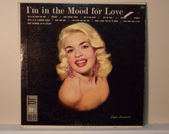 Vintage 1950's    Jayne Mansfield  I'm In The Mood For Love  Record Album