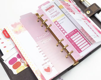 personal w01p foldout printable planner insert