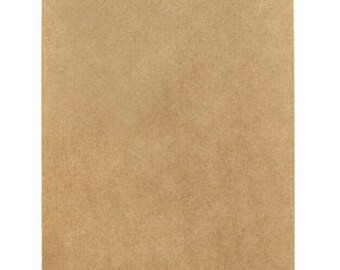 100 Small Kraft Paper Bags in Solid Brown Kraft - 2.75 x 4 inches, Suitable for Stamping