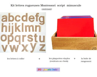 KIT letters rough Montessori SCRIPT lowercase (DIY Montessori)
