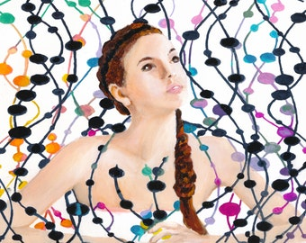 Girl with Beads by Denise Deiloh