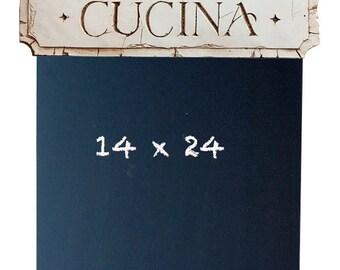 Italian Tuscan Kitchen Cucina Chalkboard