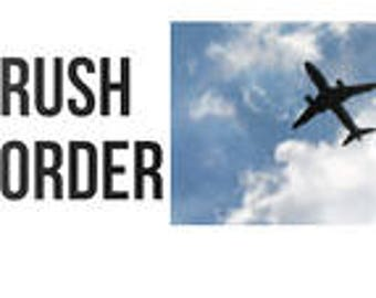 rush order, speedy delivery, fast shipment