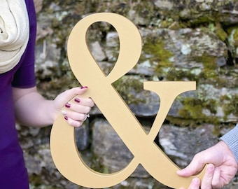 Ampersand Sign for Wedding or Engagement Photo Prop Wooden Wedding Sign or Decoration for Bride and Groom - Wooden Decor (Item - AMP150)