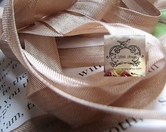 Rayon Seam Binding Ribbon Fig Beige