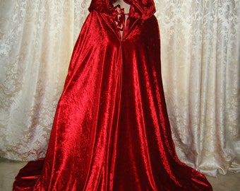 Medieval Luxury satin  cloak with oversized hood made to order