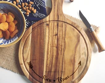 Personalized Cutting Board, Custom Cheese Board, Couple Cutting Board, Newlyweds Gifts, Charcuterie Board, Rustic Cheese Board, Foodie Gifts
