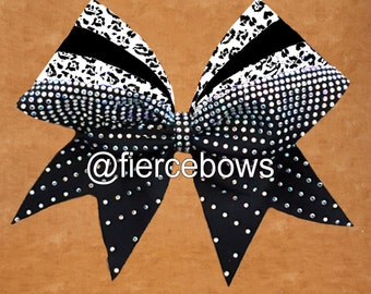 Rays of Color Rhinestone Cheer Bow