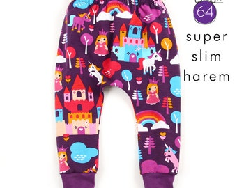 Slim harem pants sewing pattern // pdf download instant access // sizes 0-3M to 6T // #64