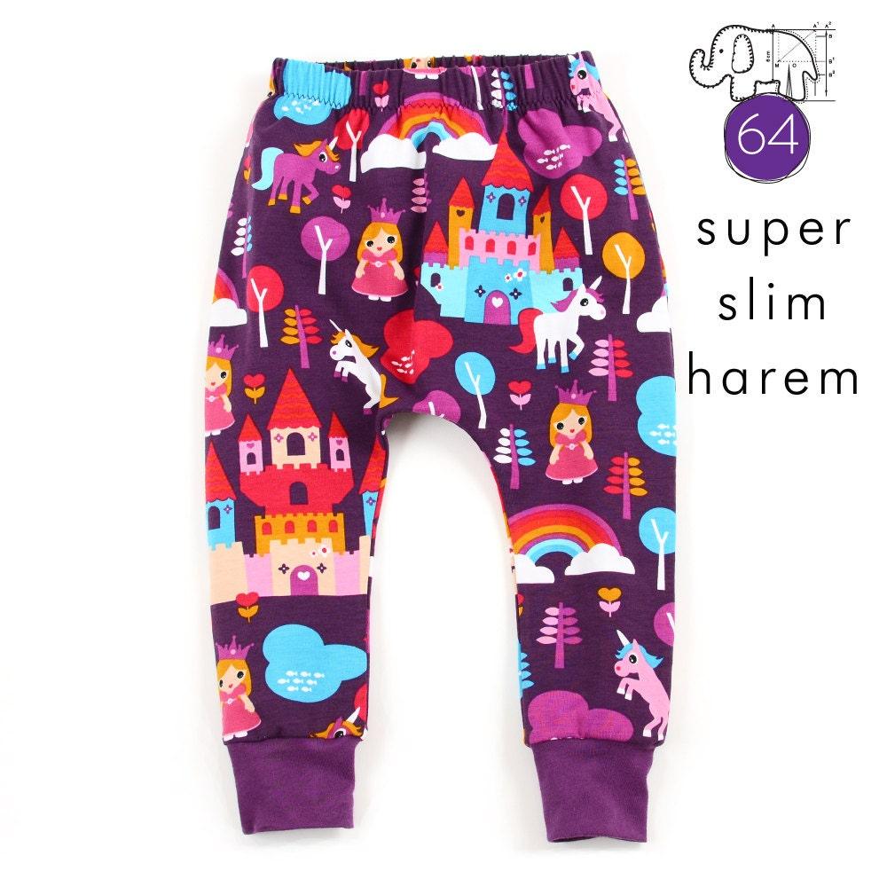 Slim harem pants sewing pattern // pdf download instant access