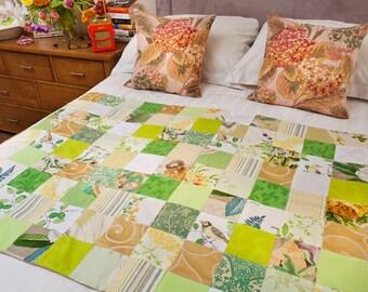 Handmade Patchwork Quilt - Spring Garden