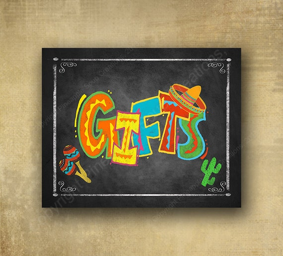 Fiesta GIFTS prints sign