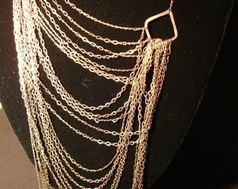 Dread-full Aged Splash Silver Necklace