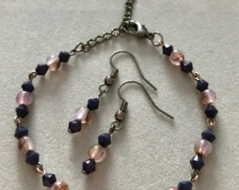 Fine Bracelet with Matching Earrings