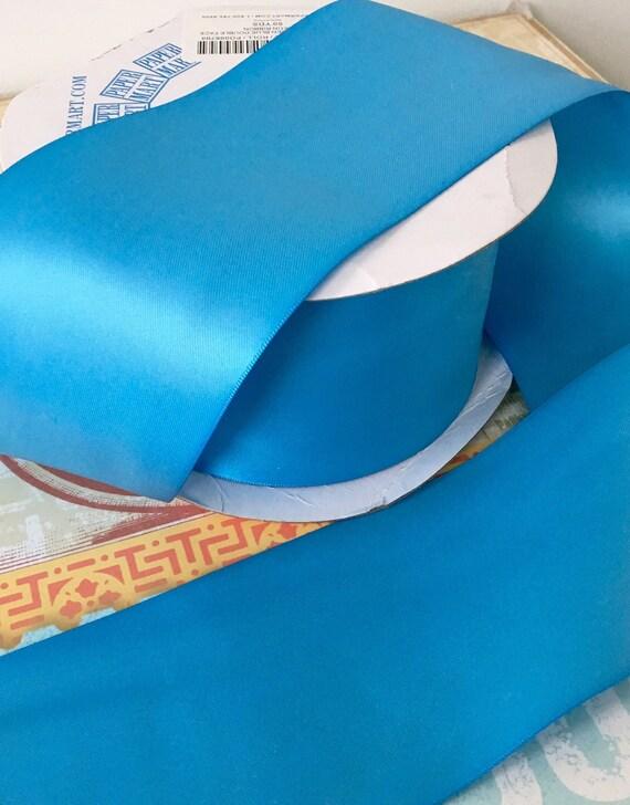 Three Inch Double Face Satin Ribbon in Copenhagen Blue Almost 50 ...