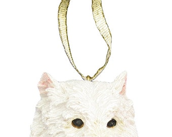 West Highland Terrier Ornament With Personalized Name Plate A Great, Westie Gift, Dog Gift