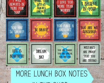 Printable Lunch Box Notes, Inspirational Lunch Box Quotes, Lunch Box Notes for Kids, Printable Lunch Box Notes, Lunch Box Note