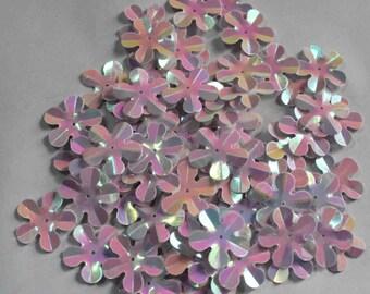 75 Rainbow Pink color/3D Flower sequins/KBBF679
