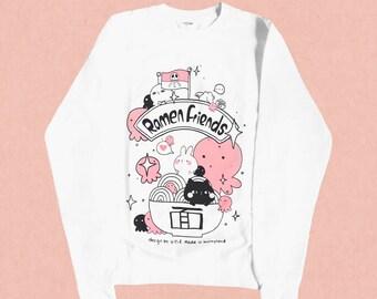 Ramen friends VS Squiddie pirates sweatshirt