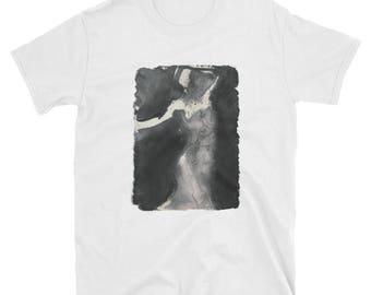 Grayscale Goddess: Men's T-Shirt, Women's T-Shirt, White T-Shirt, Hipster T-Shirt, Indie T-Shirt, Black and White T-Shirt, Grunge Shirt
