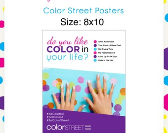 Color Street Poster JPG & PDF --Instant Digital Download