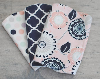 Organic Burp Cloth Set-Cotton Burp Cloth Set-Boy or Girl Burp Cloth-Set of 3 Burp Cloth-Organic Terry Burp Cloth-Baby Burp Cloth Set