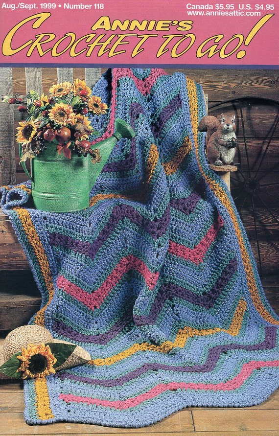 FREE US SHIP Annie\'s Attic Booklet Crochet to Go Aug/Sept 1999 ...