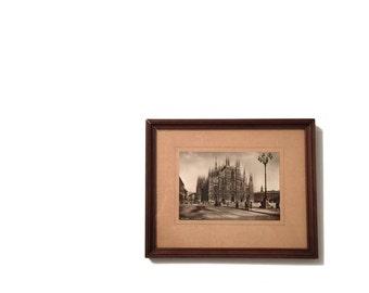 Di Duomo Milano encadré Vintage carte postale