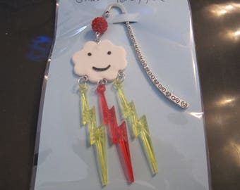 Yellow and Red lightning cloud bookmark