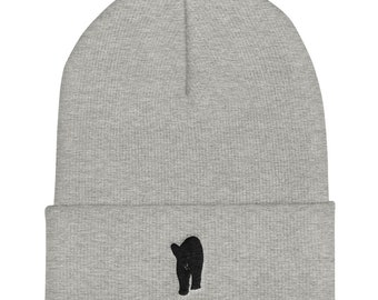Embroidered Bear Toque with Cuff