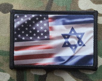 American Israeli Flag Morale Patch