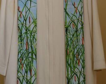 Clergy Stole: Dragonflies and Cattails
