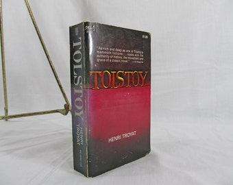 Tolstoy by Henri Troyat Biography, Illustrated with Rare Photographs Paperback Dell First Edition 1969