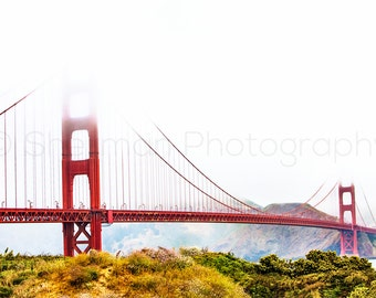 San Francisco Print - Dramatic photo - Golden Gate Bridge - Red Bridge - Urban Decor - Modern Art - City Photo - San Fran Love - Art print