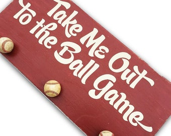 Take Me Out To The Ball Game Sign | Baseball Signs | Boys Baseball Decor