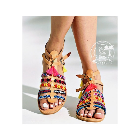 gladiators sandals ethnic