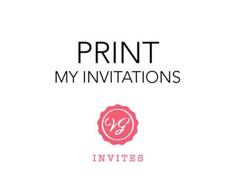 Print My Invitations with Bracket Cut