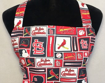 ST Louis Cardinals - Full Size BBQ Apron with Pockets