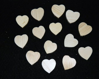 "Wholesale - 100 wooden hearts - approximately 1.5"" x 1.5""."