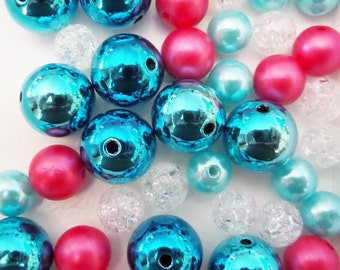 40CT. Bead Collection, 10mm beads and larger, K25