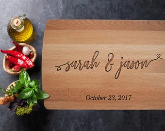Personalized Gift, Personalized Cutting Board, Wooden Serving, Foodie Gift, Couple Gift, Anniversary Gifts, Gift for Women, Wedding Gift