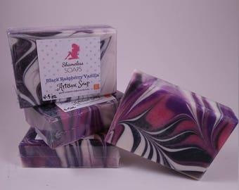 Black Raspberry Vanilla, Cold Processed Soap, Soap, Handmade Soap, ShamelessSoaps