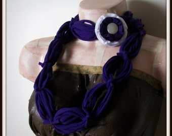 All Wrapped Up Purple Infinity Looped T shirt Jersey Scarf