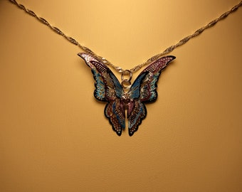 Multi Layered Butterfly Necklace