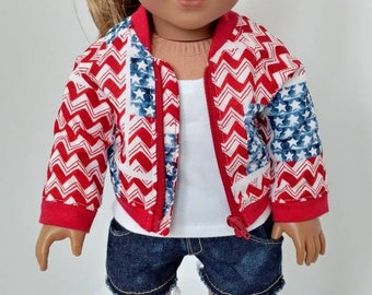 "Fits like American girl doll clothing. 18"" doll clothes. Doll aviator jacket"