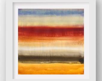 COLOR + RAIN SATURDAY, limited edition giclee art print, rain art, abstract wall art, modern art print