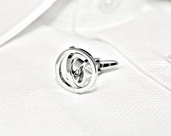 Silver Gyroscope Cufflinks