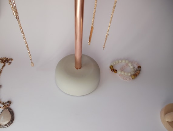 Concrete Jewelry stand copper and concrete jewelry stand