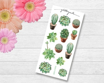 Succulent and Cactus Planner Stickers